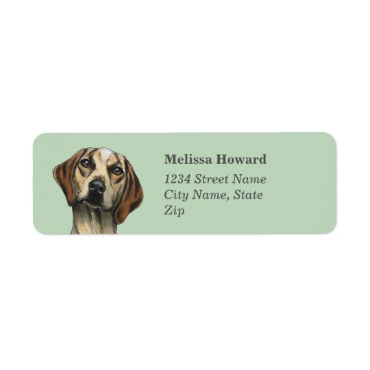 Inquisitive Hound Rendering Return Address Label