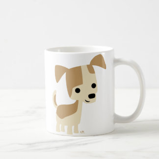 Inquisitive little dog cartoon mug