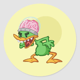 Insane duck - Insane duck Round Sticker