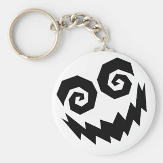 Insane In The Face White+Black Basic Round Button Key Ring