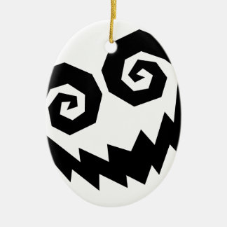 Insane In The Face White+Black Christmas Tree Ornament