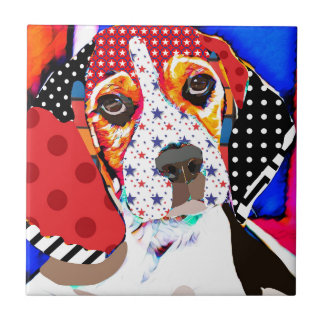 Insane person for Beagle Ceramic Tile