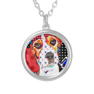 Insane person for Beagle Silver Plated Necklace