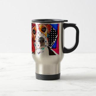 Insane person for Beagle Travel Mug