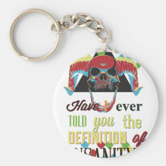 insanity and scary skull key ring