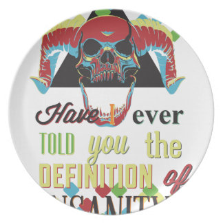 insanity and scary skull plate