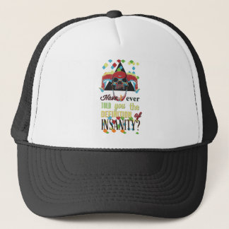 insanity and scary skull trucker hat