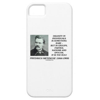 Insanity In Individuals Something Rare Nietzsche iPhone 5 Case