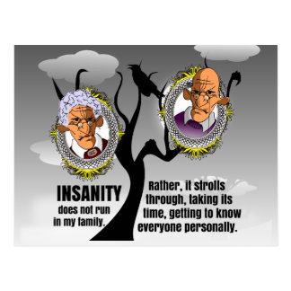 Insanity Postcard