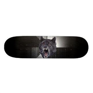 Insanity Wolf Meme Funny Memes Black Wolf Skateboard