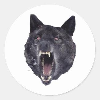 Insanity wolf round sticker