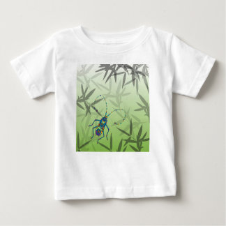 Insect Bamboo leaves Green Unique Pattern Baby T-Shirt