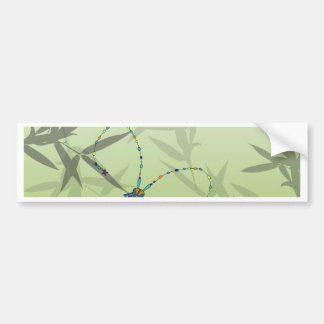 Insect Bamboo leaves Green Unique Pattern Bumper Sticker