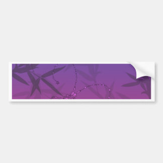 Insect Bamboo leaves Pink and Blue Unique Pattern Bumper Sticker
