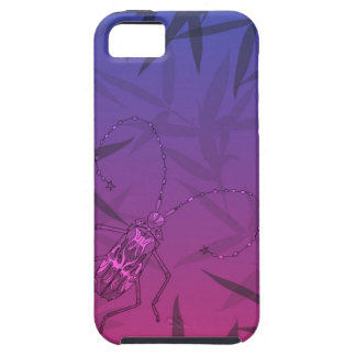 Insect Bamboo leaves Pink and Blue Unique Pattern iPhone 5 Cover