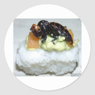 Insect (Bee) Sushi Gifts Tees & Collectibles Classic Round Sticker