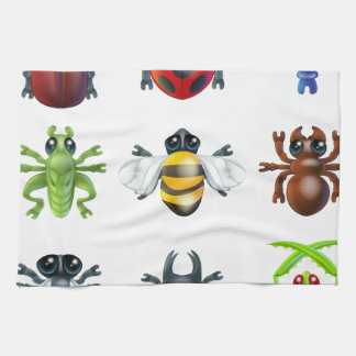 Insect bug icons tea towel