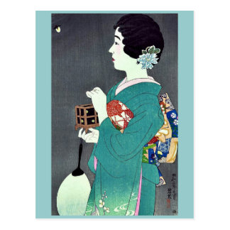 Insect cage by Ito, Shinsui Ukiyoe Postcard