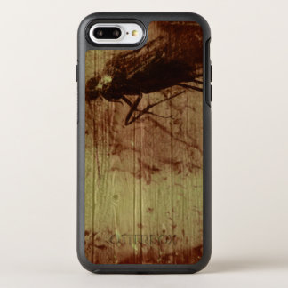 Insect in amber stone on wooden background | OtterBox symmetry iPhone 8 plus/7 plus case