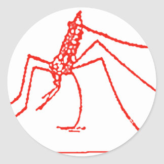 insect round sticker