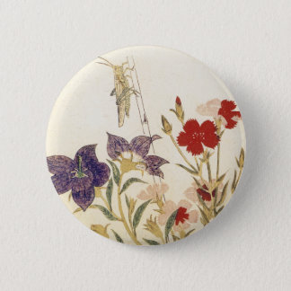 Insects and Flowers by Utamaro 6 Cm Round Badge