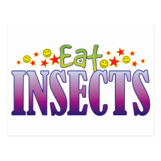 Insects Eat Postcard