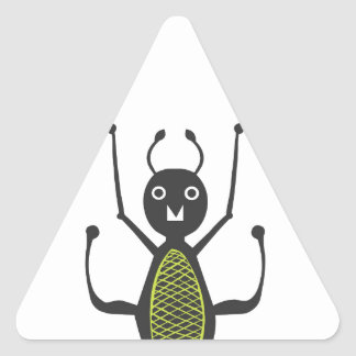 Insects fun cool graphic Ant Triangle Sticker