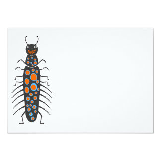 Insects fun cool graphic Big Spotty Bug 11 Cm X 16 Cm Invitation Card