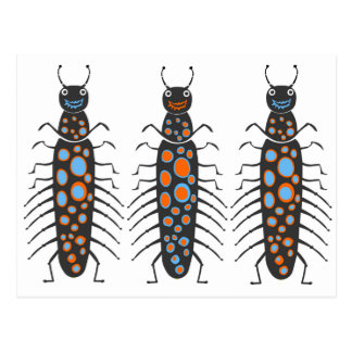 Insects fun cool graphic Big Spotty Bug Postcard