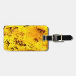 Insects in amber luggage tag