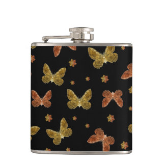 Insects Motif Pattern Flask