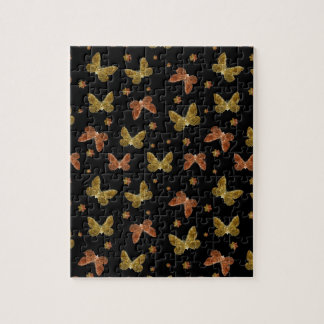 Insects Motif Pattern Jigsaw Puzzle