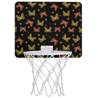 Insects Motif Pattern Mini Basketball Hoop