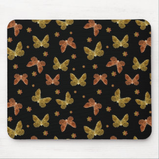 Insects Motif Pattern Mouse Pad
