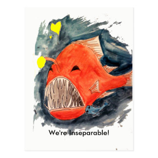 Inseparable Angler Fish Postcard