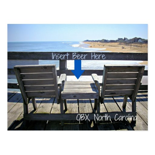 Insert Beer Here OBX North Carolina Beach Post Cards
