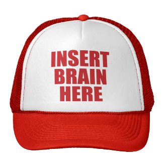 Insert Brain Here - Funny Self-Insulting Hat