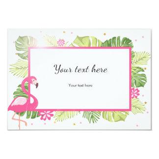 Insert card Flamingo Tropical Pink Gold Hawaii