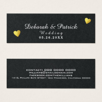 insert / information-card / wedding black premium
