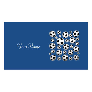 Insert Name - Classic Blue Soccer Ball Pack Of Standard Business Cards