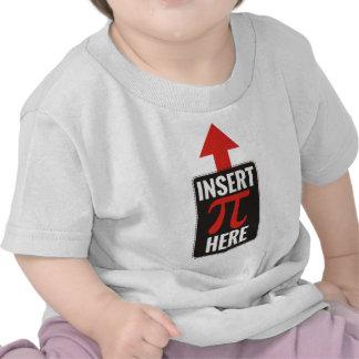 Insert Pi Here Tee Shirt