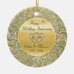 Insert Years Wedding Anniversary Christmas Ornament