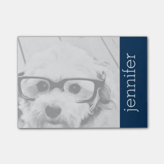Insert Your Instagram Photo - Navy Blue Post-It Notes