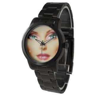 Insert Your Own Image Coolest  DIY Black Bracelet Wristwatches
