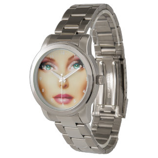 Insert Your Own Image Unisex DIY Silver Bracelet Watch