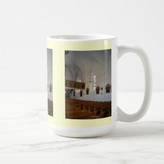 Inside a Roman Catholic church Basic White Mug