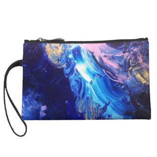 Inside cosmos wristlet purse