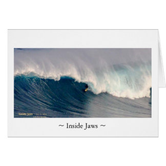 Inside Jaws card