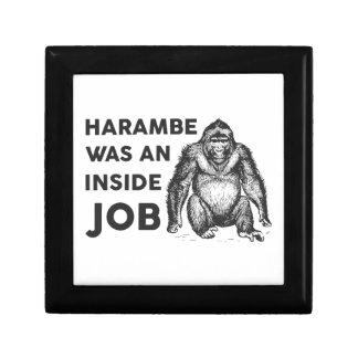 Inside Job Harambe Small Square Gift Box
