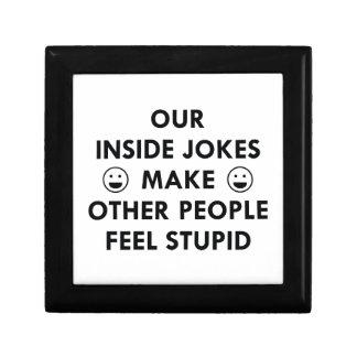 Inside Jokes Small Square Gift Box
